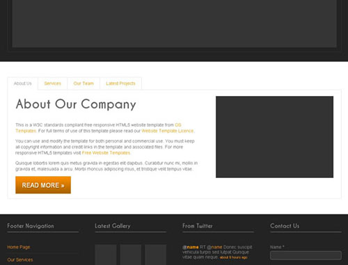 HTML5 CSS3 Website Templates
