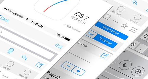 Free IOS7 UI Kits and Templates