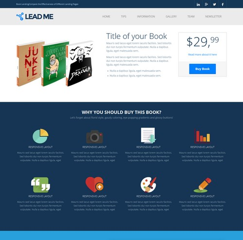 40+ Innovative Landing Page Templates
