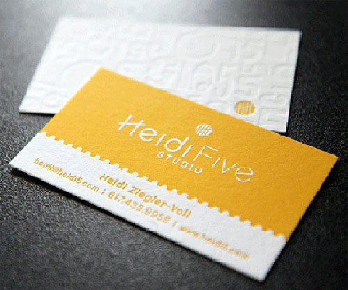 40+ Attractive Letterpress Business Cards