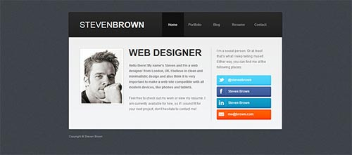 Inspiring vCard WordPress Themes