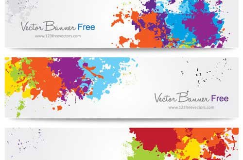 20 Free Hight Quality Splatters Vectors
