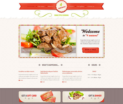 Cafe and Restaurant Templates