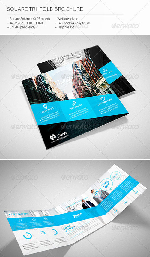 30 awesome indesign brochure templates for Adobe brochure templates