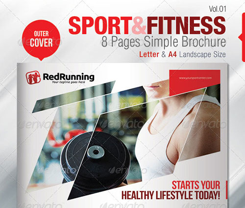 30 awesome indesign brochure templates for Fitness brochure template