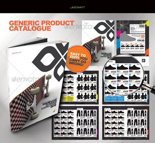 generic product catalogue including indesign cs4 doc inx for use