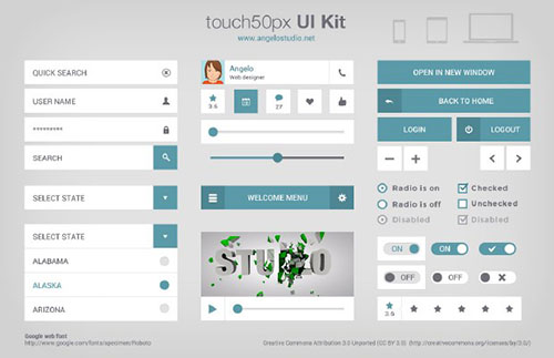 50 Useful Free UI Kits for Designers