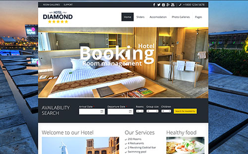Hotel and Resort Website Themes