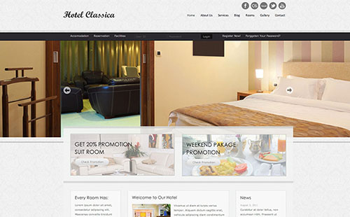 20 Amazing Hotel And Resort Website Themes