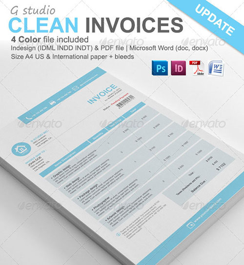 Simple A4 Invoice | A4 Paper, Fonts And Invoice Template