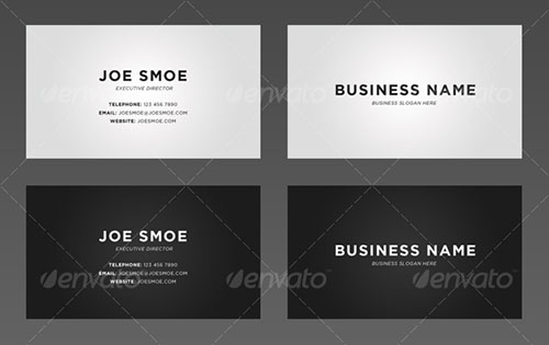 Attractive Personal Business Card Templates - Personal business cards templates