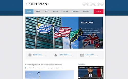 Political and Government Website Themes