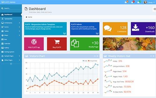 Flat Admin Dashboard Templates