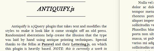 jQuery Typography Plugins