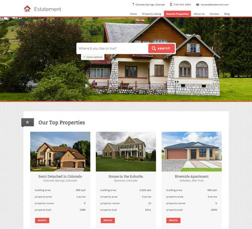 40+ Stunning Real Estate Web Designs