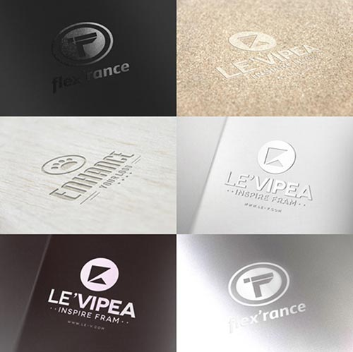 Free PSD Logo Mock-Up Templates