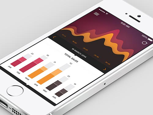 30+ iPhone and iPad Application UI Designs