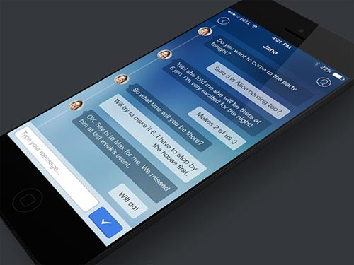 iPhone and iPad Application UI Designs