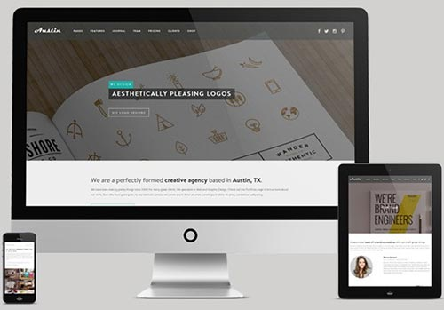 Flat WordPress Responsive Themes