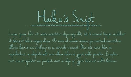 Creative Handwriting Fonts