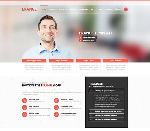 Html5 business template images business cards ideas 40 premium html5 business website templates html5 business website templates accmission images cheaphphosting Gallery