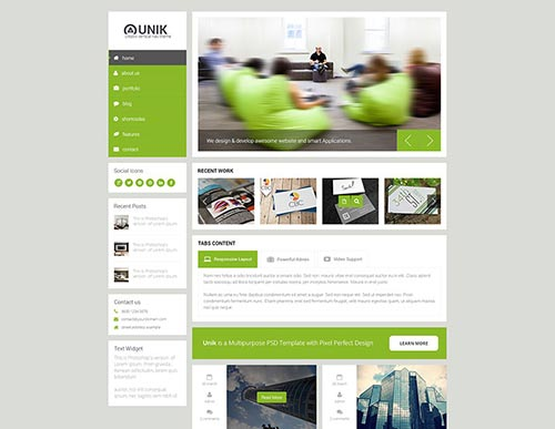 html5 business templates