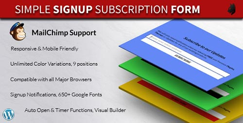 how to add mailchimp subscribers form to wordpress