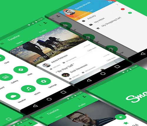 20+ Retina Ready Mobile UI Kits