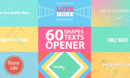 42 Premium After Effects Shape Elements & Openers
