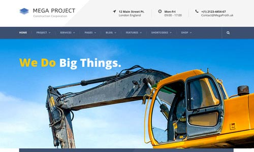 40 Inspiring Architecture And Construction WordPress Themes