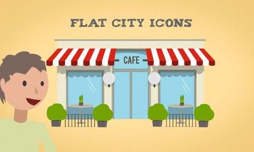 Flat Animated Icon Sets