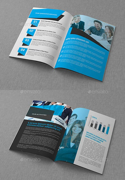 30 inspiring psd indesign brochure templates for Indesign bi fold brochure template