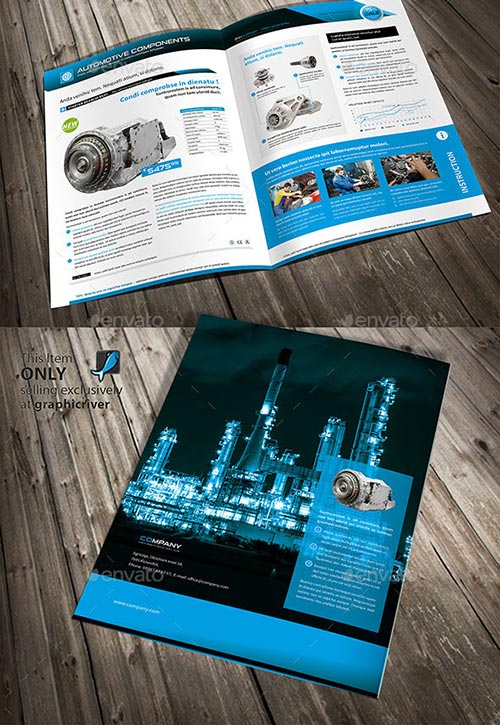 30 Inspiring PSD & InDesign Brochure Templates