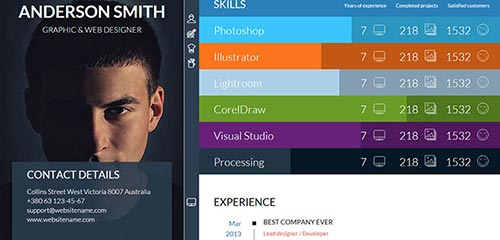 20 Attractive Online Resume Templates