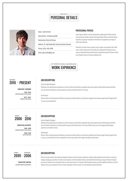 20 attractive resume templates