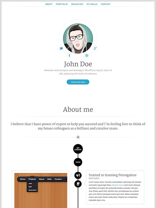 Attractive Online Resume Templates