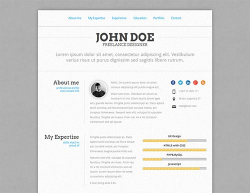 Attractive Online Resume Templates