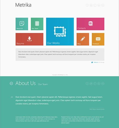 Portfolio & Business Single Page WordPress Themes