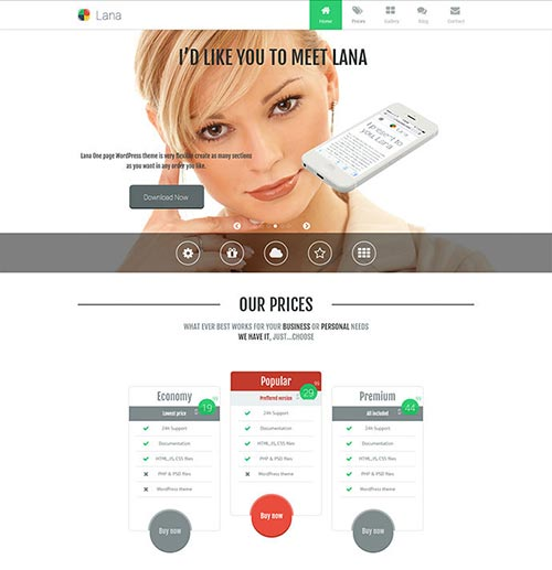 Portfolio & Business Single Page WordPress Themes