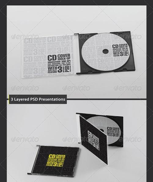 PSD CD/DVD Cover Mockup Templates