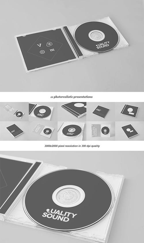 20+ PSD CD/DVD Cover Mockup Templates