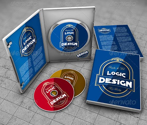 25 PSD CD/DVD Cover Mockup Templates