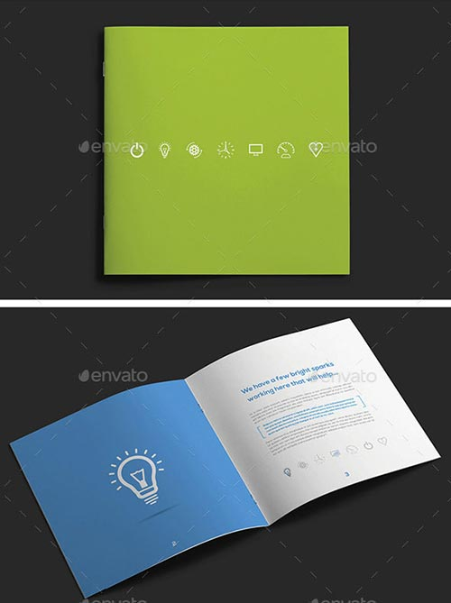 Square Brochure Template Designs