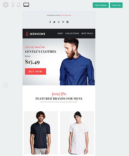 10+ Responsive eCommerce Email Templates