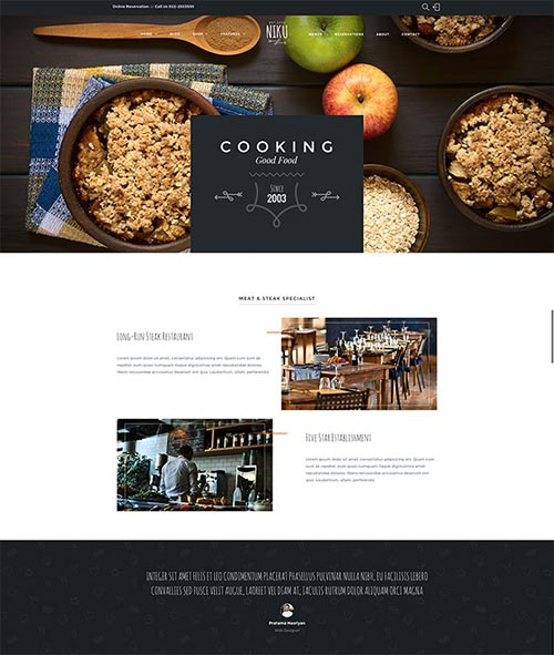 Food & Drink WordPress Themes Designs