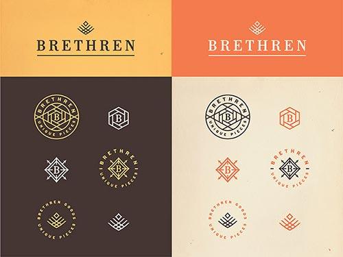 Typographic Logo Badge Designs