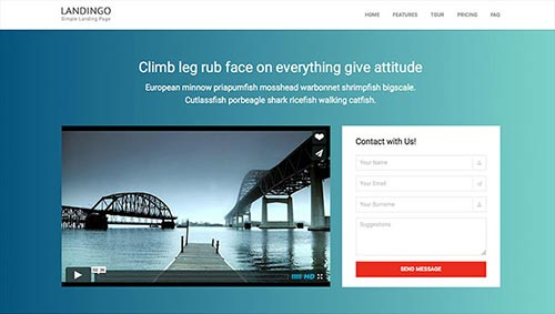 Useful Video Landing Page Templates - Video landing page templates