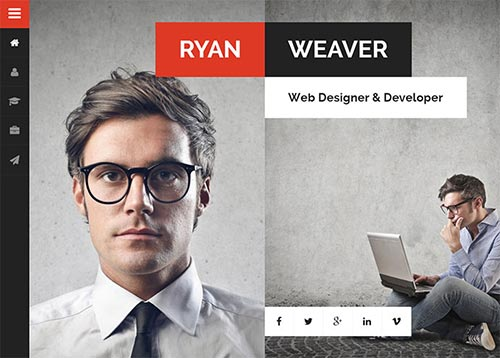 20 Attractive Personal VCard & Resume HTML Templates
