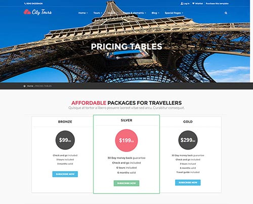 25 WordPress Themes with Useful Pricing Tables