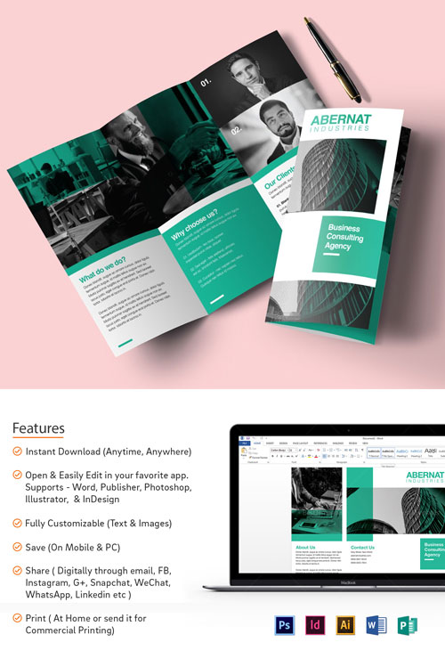 30+ Awesome PSD Brochure Design Templates